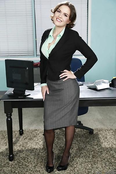 Busty business woman Krissy..