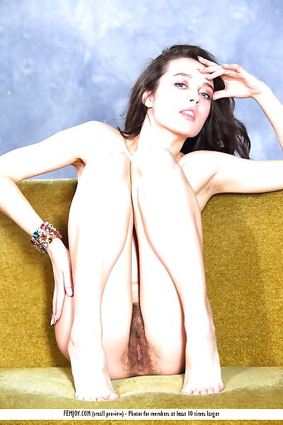 Gorgeous dark haired Marla O..