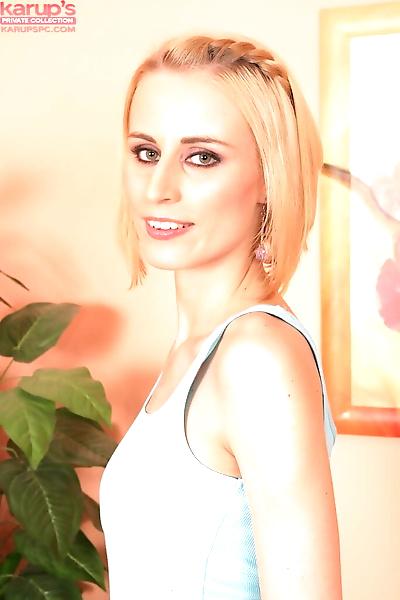 Thin blonde girl Adrianna..