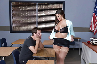 Busty teacher Brooklyn Chase..