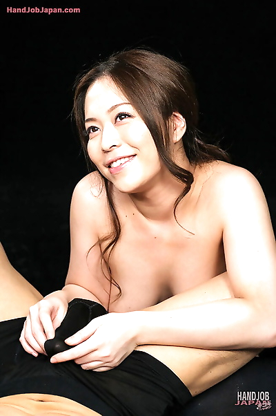 Naked Japanese beauty licks..