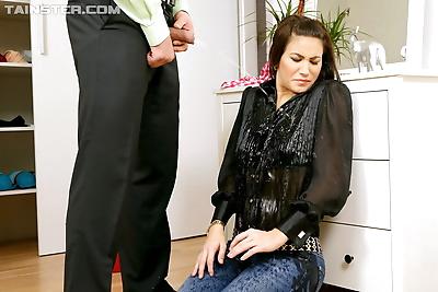 Hardcore slut gets soaked in..