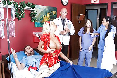 Nurse uniform suits this..