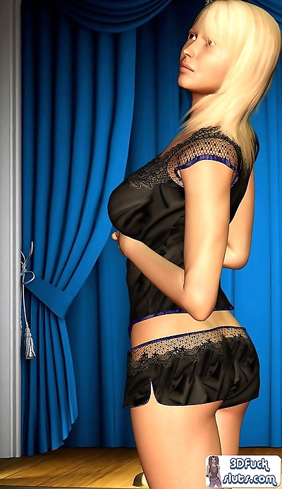 Sexy blonde in black..