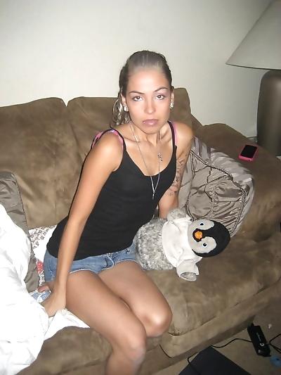 Drunk girlfriend posing..