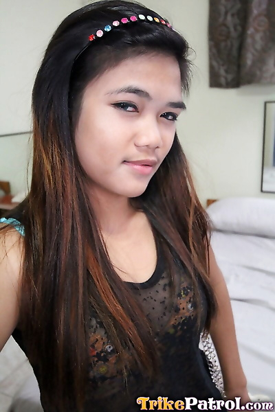 Young Filipina girl with a..