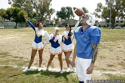 Busty cheerleader Crista..