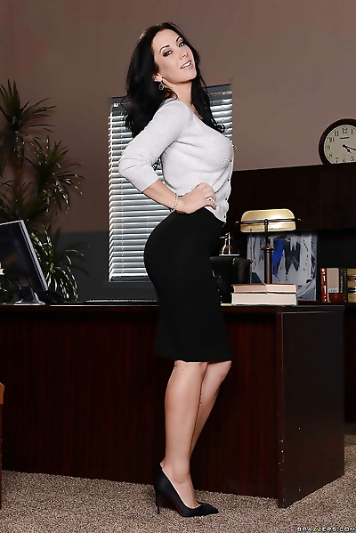 Tall and busty secretary..